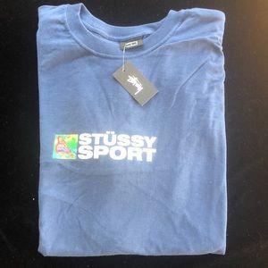 Stussy sport t-shirt in blue